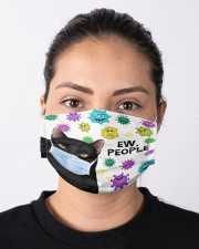 Black Cat Ew People Cloth face mask aos-face-mask-lifestyle-01