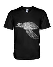 Bling Turtle V-Neck T-Shirt thumbnail