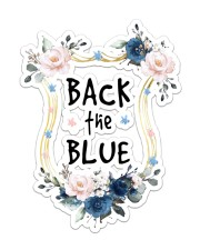 Back The Blue  Sticker - Single (Vertical) front