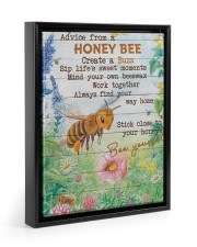 Advice From A Honey Bee 11x14 Black Floating Framed Canvas Prints thumbnail