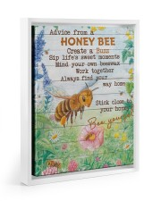 Advice From A Honey Bee 11x14 White Floating Framed Canvas Prints thumbnail
