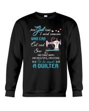 He Made A Quilter Crewneck Sweatshirt thumbnail