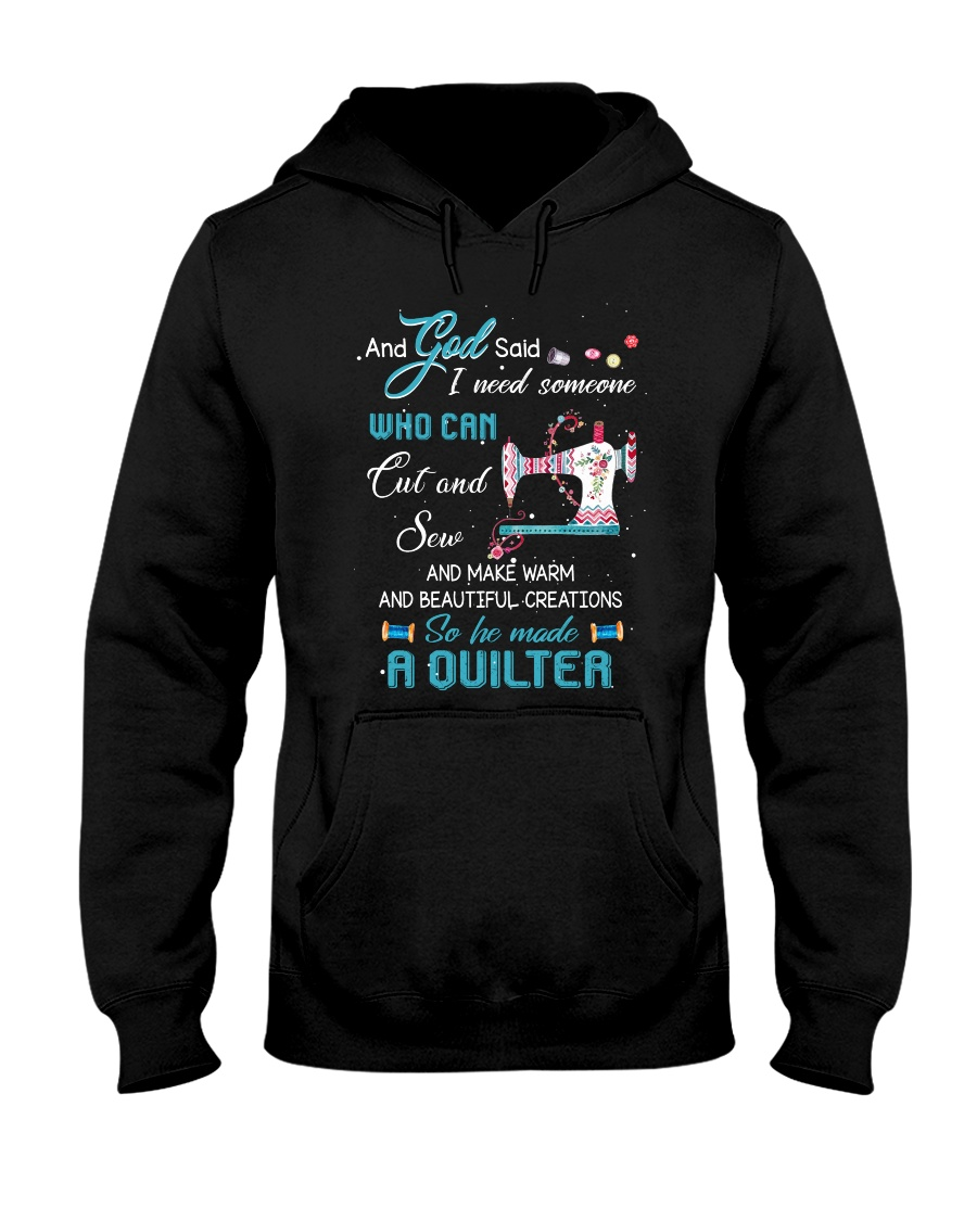 He Made A Quilter Hooded Sweatshirt