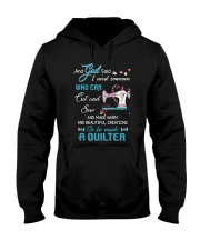 He Made A Quilter Hooded Sweatshirt front