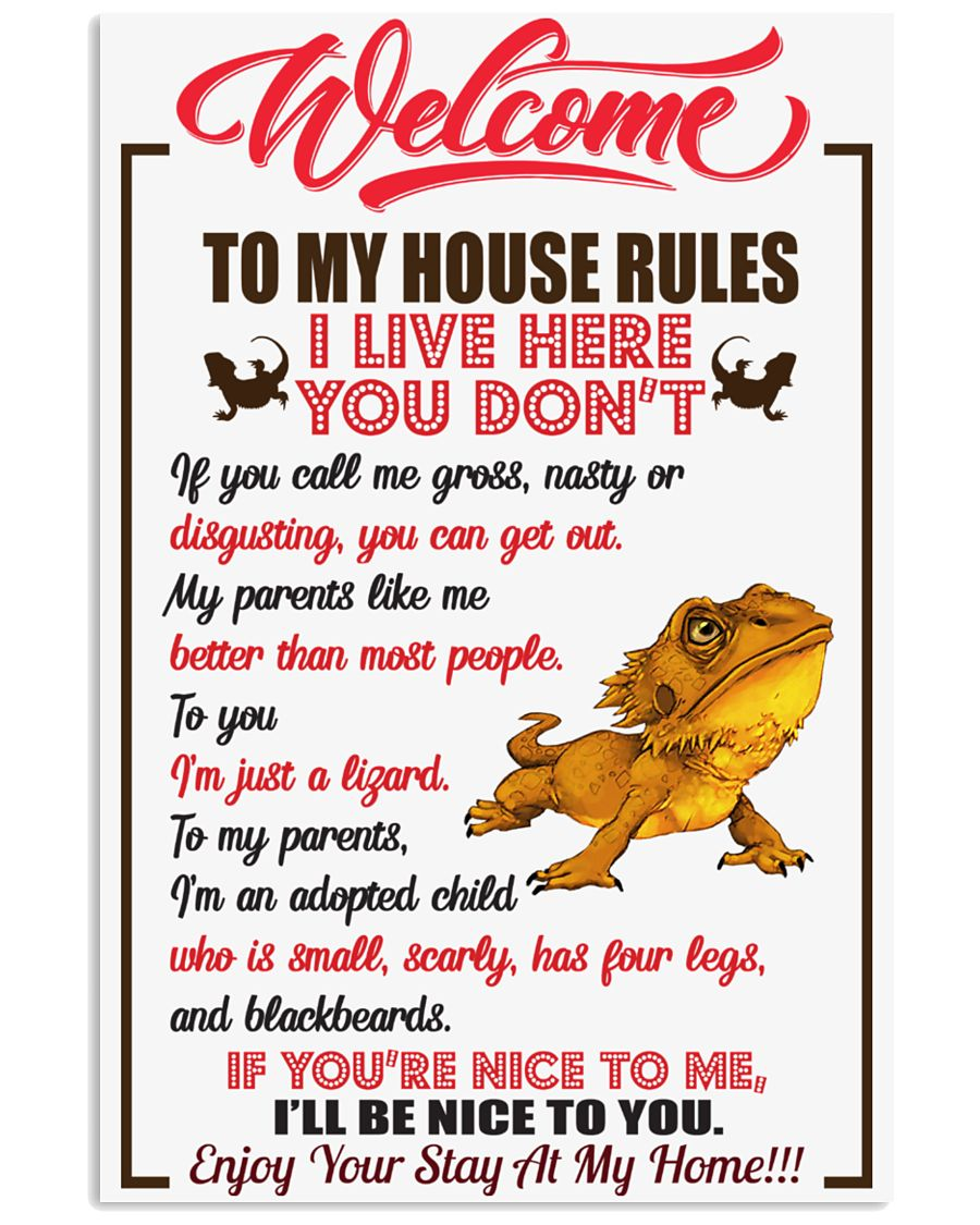 Welcome To My House Rules 11x17 Poster