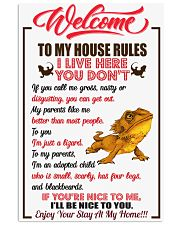Welcome To My House Rules 11x17 Poster front