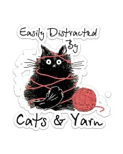 Easily Distracted By Cats And Yarn Sticker - Single (Vertical) front