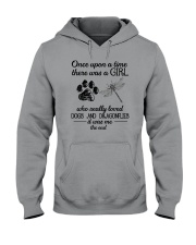 A Girl Loves Dragonflies And Dogs Hooded Sweatshirt thumbnail
