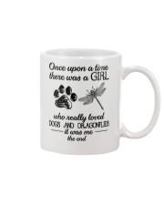 A Girl Loves Dragonflies And Dogs Mug thumbnail