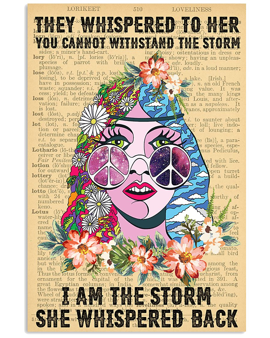 Hippie I Am The Storm 11x17 Poster