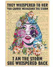 Hippie I Am The Storm 11x17 Poster front