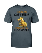 I Run On Caffein And Horses Classic T-Shirt tile