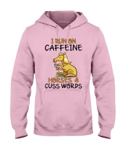 I Run On Caffein And Horses Hooded Sweatshirt front