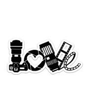 Photographer Love Sticker - Single (Horizontal) front