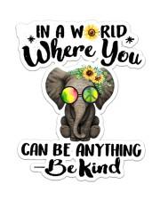 Hippie Be Kind Sticker - Single (Vertical) front