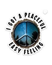 I Got A Peaceful Easy Feeling Sticker - Single (Vertical) front