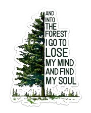 Hiking Into The Forest I Go Sticker - Single (Vertical) front