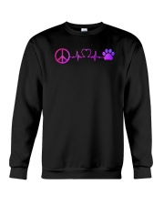 Hippie And Dog Crewneck Sweatshirt thumbnail