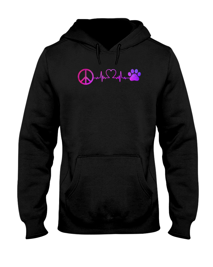 Hippie And Dog Hooded Sweatshirt