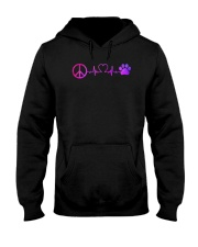 Hippie And Dog Hooded Sweatshirt front