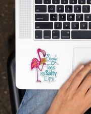 Flamingo Sandy Toes Sticker - Single (Vertical) aos-sticker-single-vertical-lifestyle-front-11
