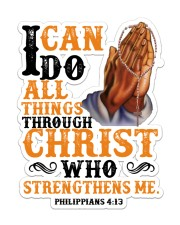 I Can Do All Things Sticker - Single (Vertical) front