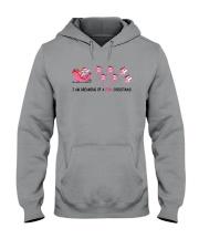 Sharks Pink Christmas Hooded Sweatshirt thumbnail