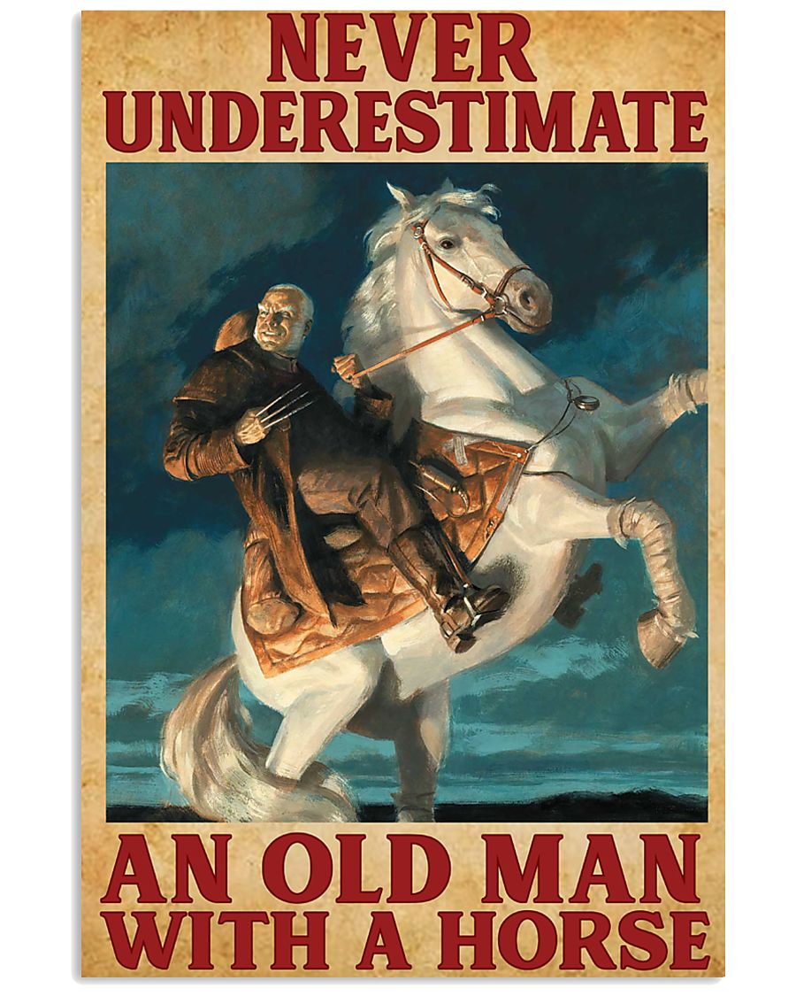 Old Man With A Horse 11x17 Poster