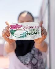 Mermaid Salty Lil' Beach  Cloth face mask aos-face-mask-lifestyle-07
