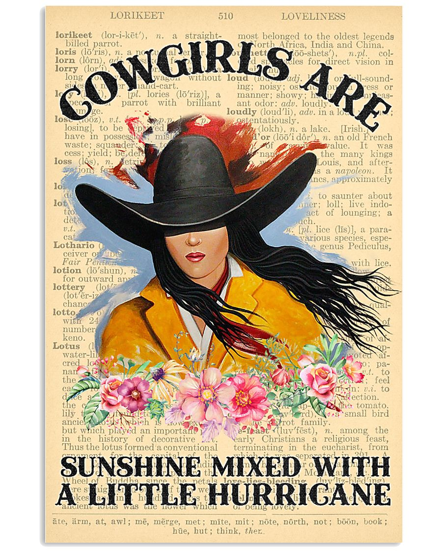 Cowgirl Are Sunshine 11x17 Poster