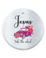 Jesus Take The Wheel Circle ornament - single (porcelain) front