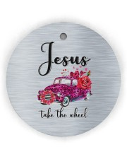 Jesus Take The Wheel Circle ornament - single (wood) thumbnail