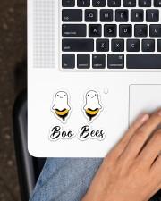 Boo Bees  Sticker - Single (Horizontal) aos-sticker-single-horizontal-lifestyle-front-11
