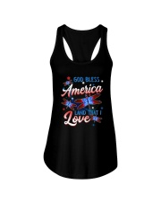 God Bless America Ladies Flowy Tank thumbnail