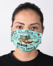 Quilting In My Vein Cloth face mask aos-face-mask-lifestyle-01
