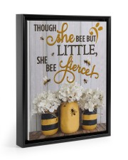 She Bee Fierce 11x14 Black Floating Framed Canvas Prints thumbnail
