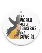 Be A Cowgirl Circle ornament - single (porcelain) front
