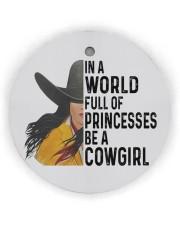 Be A Cowgirl Circle ornament - single (wood) thumbnail