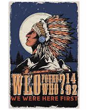 Native We Were The First 11x17 Poster front