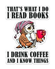 Book Coffee  Sticker - Single (Vertical) front