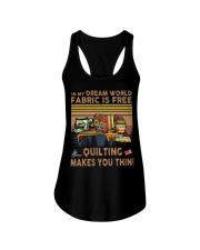 Quilting Makes You Thin Ladies Flowy Tank thumbnail