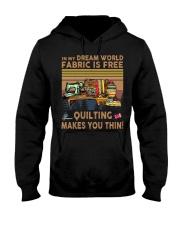 Quilting Makes You Thin Hooded Sweatshirt thumbnail