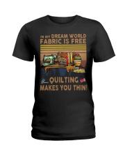 Quilting Makes You Thin Ladies T-Shirt thumbnail