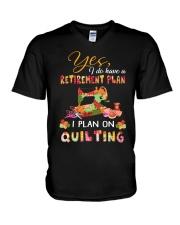 Retirement Plan V-Neck T-Shirt thumbnail