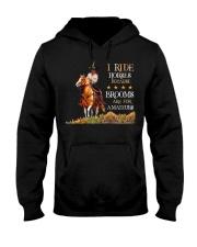 I Ride Horses Hooded Sweatshirt thumbnail