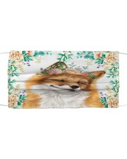 Fox Floral Cloth face mask front