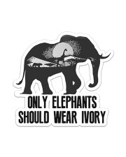 Elephant Ivory  Sticker - Single (Vertical) front