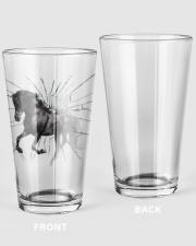 Black Horse 16oz Pint Glass front