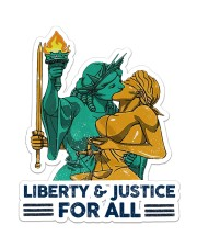 LGBT Liberty And Justice For All Sticker - Single (Vertical) front