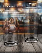 Dragon Coffee 16oz Pint Glass aos-16oz-pint-glass-lifestyle-front-11